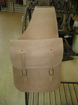 Used Tack Saddle Bags Gun  natural leather rough out Western gift hunter hunting