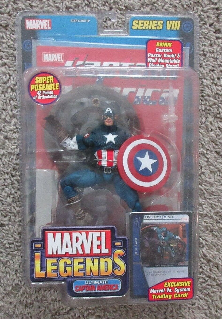 MARVEL LEGENDS CAPTAIN AMERICA RARE AVENGERS SERIES 3 VIII INFINITE TOYBIZ 8