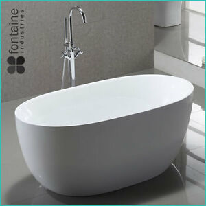 Ariana Freestanding Bath 1400 Compact Acrylic White Round