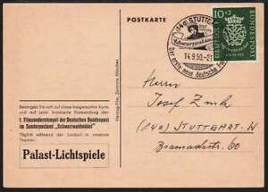 Bund Nr. 121 auf Postkarte mit SST STUTTGART 14.9.50 (41369) - Spahnharrenstätte, Deutschland - Bund Nr. 121 auf Postkarte mit SST STUTTGART 14.9.50 (41369) - Spahnharrenstätte, Deutschland