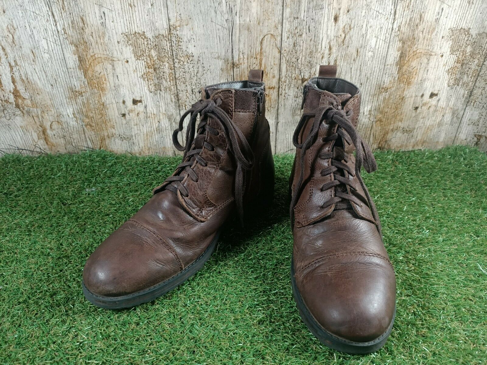 TOPMAN BROWN LEATHER BOOTS SIZE 7 UK 41 EUR