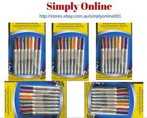 40 Markers Coloured Permanent SUPER Marker Pen Bulk Texta Fine Point  FREE POST