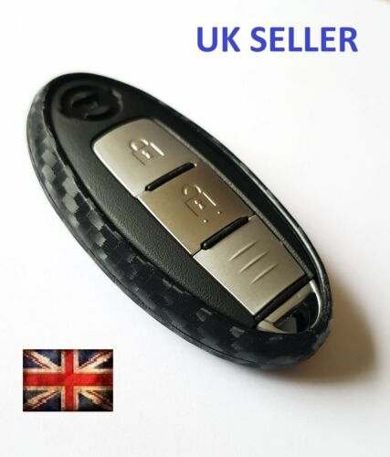 NISSAN REMOTE KEY NAVARA NOTE CUBE XTRAIL TEANA LEAF COVER CASE CARBON FIBRE