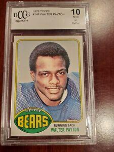 1976 Walter Payton Rookie Card #148 Beckett 10 Mint or Better.
