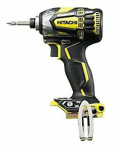 Hitachi 18v Cordless Impact Driver Wh18ddl2 Nn Yellow Body Only