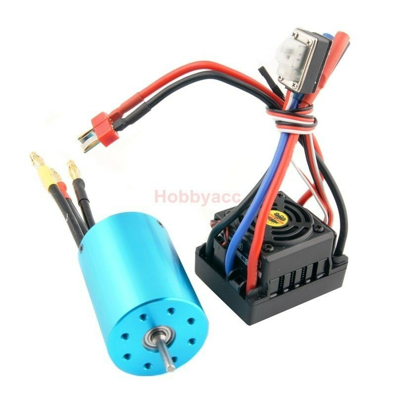 RC HSP 107051 Brushless 540 Motor 3300KV & Waterproof ESC 37017 60A 2-3S Lipo
