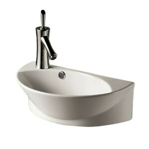 Small Wall Mount Sink White Porcelain