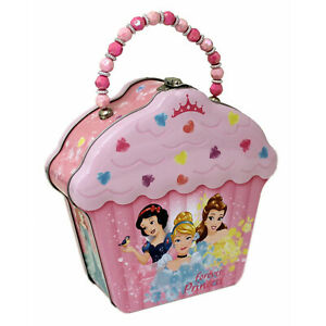 Disney Forever Princess Cupcake Lunch Box Metal Tin NEW IN STOCK