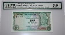 (PL) RM 5 A/44 754826 PMG 58 ISMAIL ALI 1ST SERIES