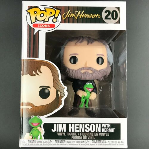 Jim Henson with Kermit the Frog #20 Vinyl Figure Funko Pop The Muppets Icons