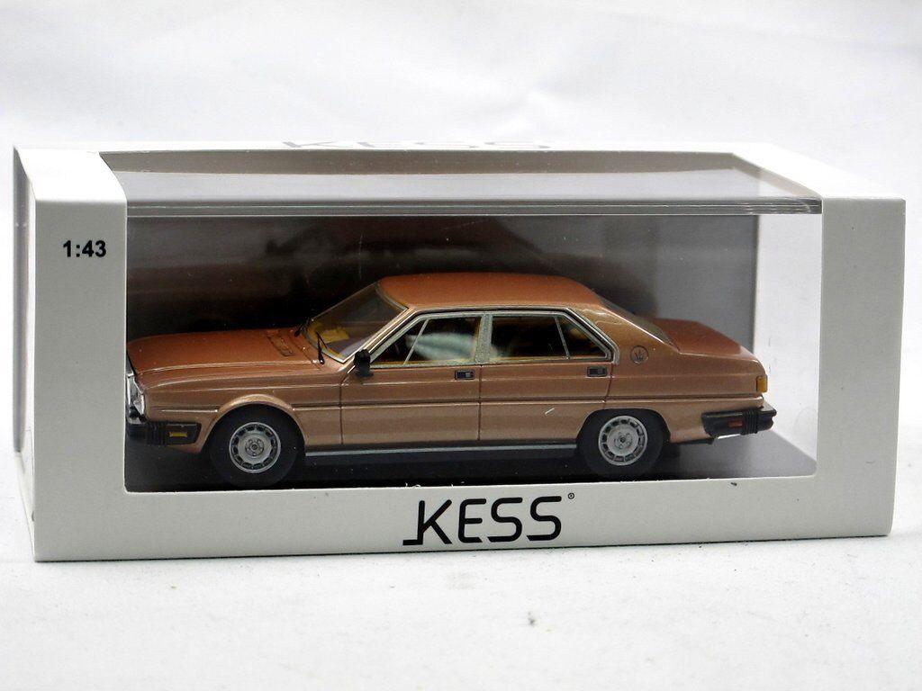 Kess Scale Models 1983 Maserati Maserati Maserati Quattroporte III 4.9 Gold 1 43 Resine-Modell  | Niedriger Preis und gute Qualität  79436b
