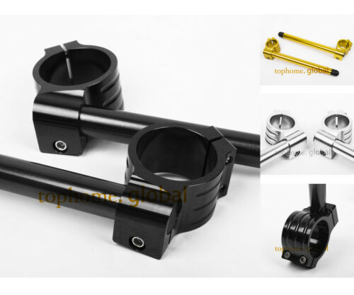 For 52mm Fork Clip-ons Handle Bar Riser Regular CNC Fit ZX9R 94-97 ZX7R//RR 91-04