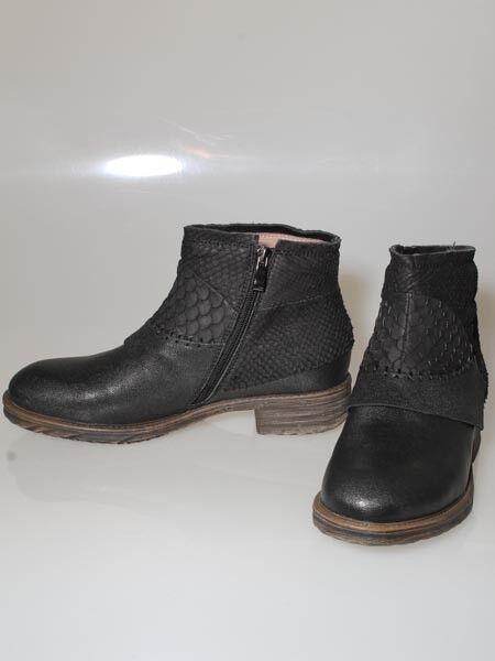 -35% Damen Stiefelette Leder 38 40 41 Lachs Karpfenleder Boots Schwarz, Heart