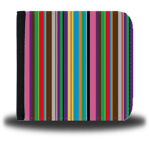 Colourful Stripes Mens Leather Wallet Multicoloured Multi Coloured Striped si278