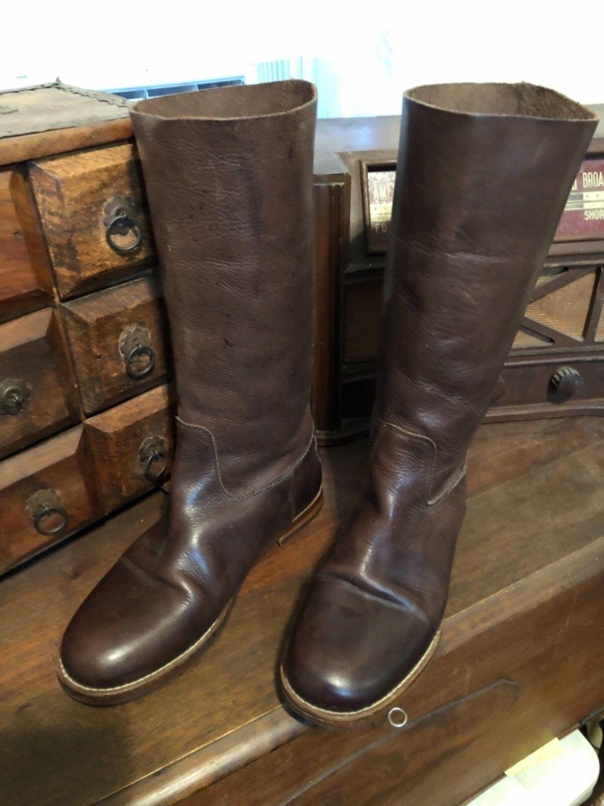 Shabbies Amsterdam Leather Boots Size EU38 US7-7.5 UK5.5