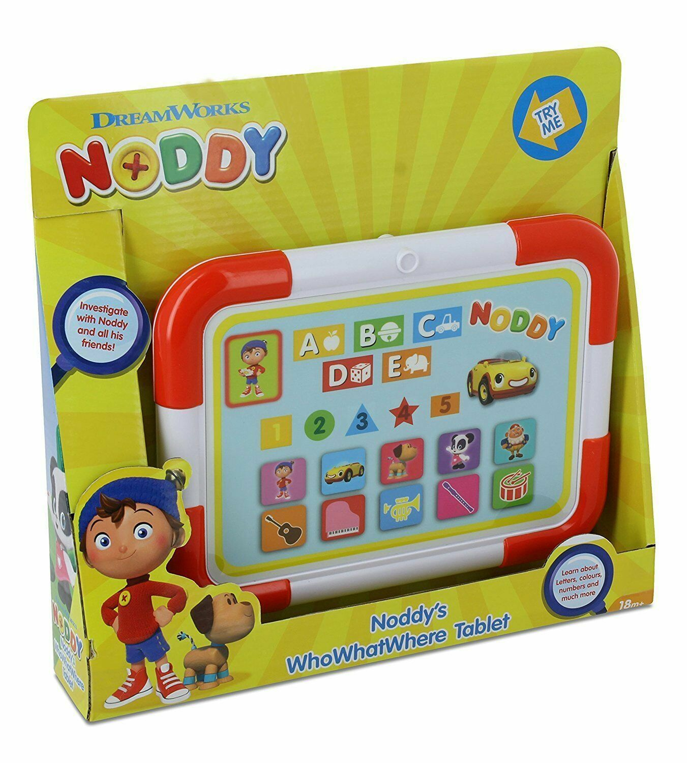 DreamWorks NODDY Noddy's Who What Where Interactive Tablet Toy