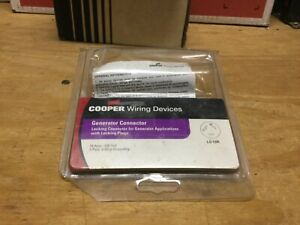 Cooper 4729-L Generator Connector 15A, 125 V, 2-Pole, 3-wire, Locking Connector