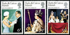 Turks & Caicos Islands 1977 Silver Jubilee MNH Set #R370
