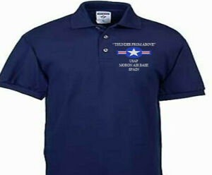 MORON AIR BASE SPAIN  USAF EMBROIDERED POLO SHIRT/SWEAT/JACKET.