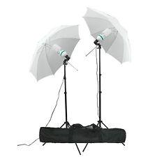 Studio 135 W fotografía Lámpara Paraguas luz Stand conjunto Iluminación Continua Kit