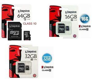 MICRO-SD-KINGSTON-4GB-8GB-16GB-32GB-64gb-SECURE-DIGITAL-MEMORIA-ADATTATORE-PEN