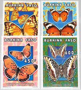 Burkina Faso 1996 1410-13 1069-72 Butterflies Papillons Insects Faune Mnh
