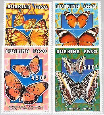 Burkina Faso Afrika Verantwortlich Burkina Faso 1996 1410-13 1069-72 Butterflies Schmetterlinge Insects Fauna Mnh Dinge FüR Die Menschen Bequem Machen
