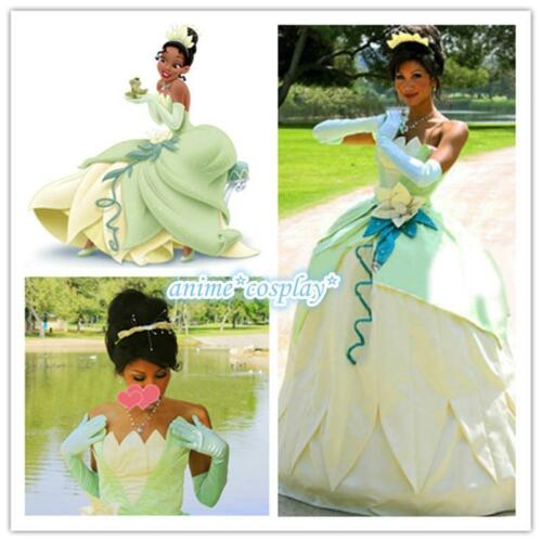 Tiana Princess Dress Costume Party Dress From The Princess And The Frog Cosplay