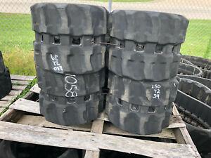 Pair 250x72x39 Rubber Tracks, Fits Boxer 427, 530, 532DX ...