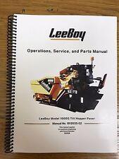 Oem Leeboy 1000g Tilt Hopper Paver Operation Service Parts Manual Book