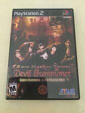 Devil Summoner 1 Shin Megami Tensei Ps2 PlayStation 2 RPG Game Complete RARE