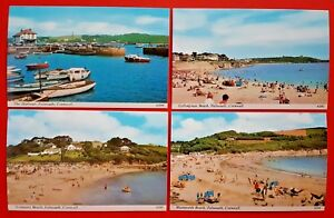 Cornwall-Falmouth-Postcards-Set-of-4-Different-NEW-Vintage-Cards