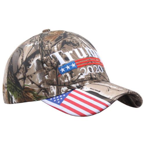 Donald Trump 2020 Cap Camouflage USA Flag Baseball Cap Presidential HeaddresJTC