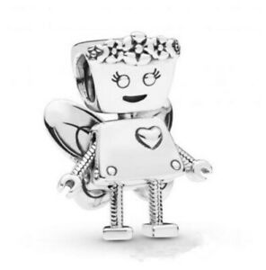 Robot-Charm-Silver-LIMITED-EDITION-FLORAL-BELLA-BOT-CHARM-Bead-2019-NEW