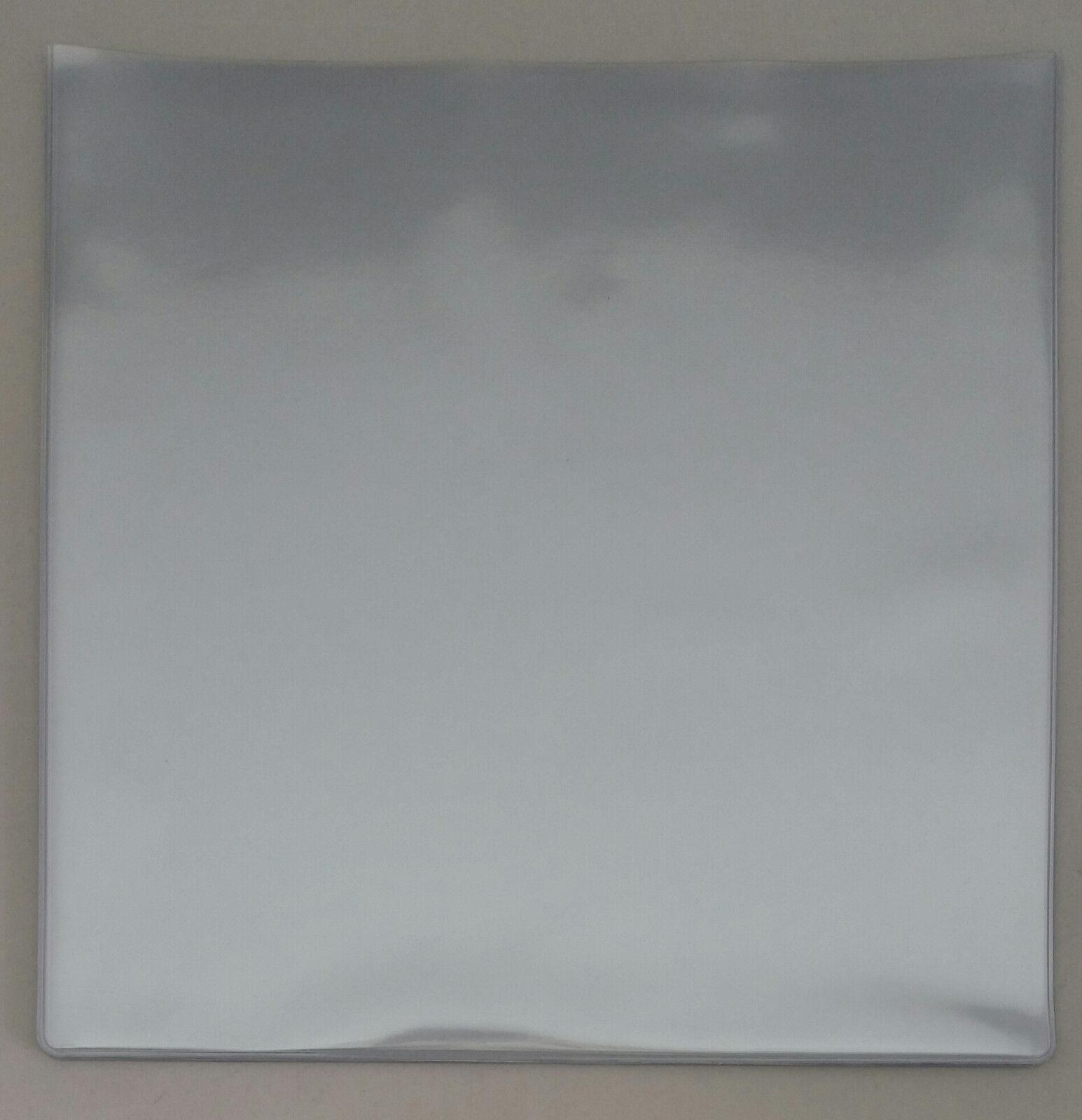 7 Inch 12 Inch PVC Record Sleeves Clear /& Orange Peel Thumb Cut 180//140 Micron
