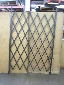 SINGLE-DG257-4-1-2-039-W-X-7-039-H-BLACK-STEEL-FOLDING-SECURITY-GATE