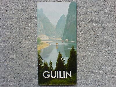 1 Stadtplan Touristenkarte Guilin China Um 1980