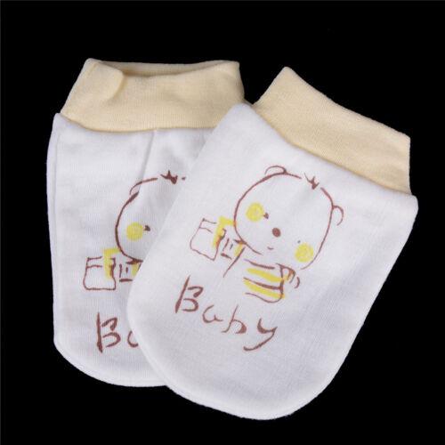 Neugeborene Babys Soft Cotton Handschutz Anti  Handschuhe HandschuAB