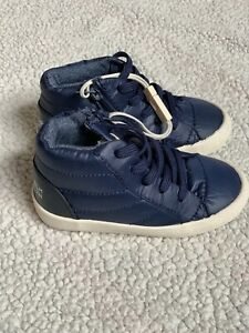 Zara Baby Boy 7c Side Zip Blue Puffer Sneakers Shoes White ...