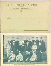 2028) Cartolina 6 Reggimento Alpini Ufficiali del Battaglione Alpino d'Africa