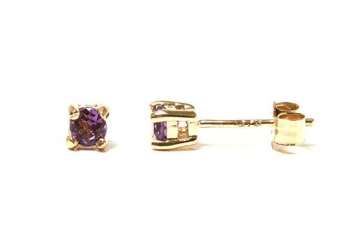 9ct Collar Colgante de Amatista De Oro Y Cadena en Caja De Regalo Hecho en Reino Unido