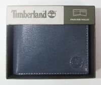 Timberland Men's Leather Fine Break Passcase Wallet Ink D84218-23