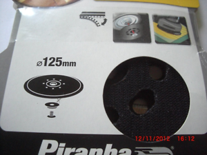 Piranha Random Orbital Sander BLACK+DECKER Backing Pad 125 mm