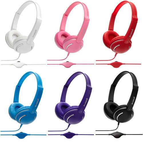Groov-e GV897 Streetz Stereo Headphones with Volume Control Kids iPhone MP3