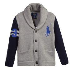 NWT Ralph Lauren Polo Boys Big Pony Cardigan Sweater (M 10 - 12)
