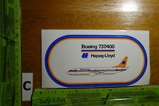 Alter Hapag Lloyd Flug Boeing 737 Aufkleber Sticker