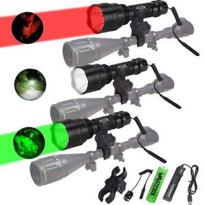 500yard Red /Green Hunting Flashlight LED Light Coyote Hog Pig Varmint Predator