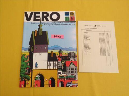 VEB VERO Olbernhau DDR Modellbau Modelle Modelleisenbahn Katalog m. Preisliste