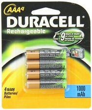 Duracell AAA NiMH 1000mAh DuraLock Precharged Rechargeable Batteries New 4-Pack
