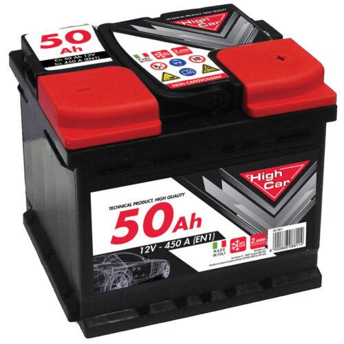 Batteria  Auto 50Ah High Car Fiato Punto e Fiat 500 Diesel//Benzina//Metano//Gpl